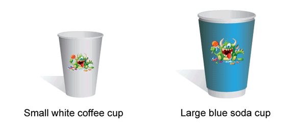 Two cups illustrate the hazards of poor descriptions of inventory items.