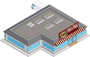 Exterior view of Sweet Little Devils Cookies and Candies - an example inventory company.